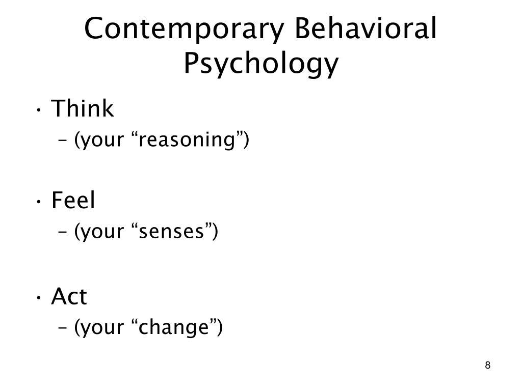 Contemporary Behavioral Psychology