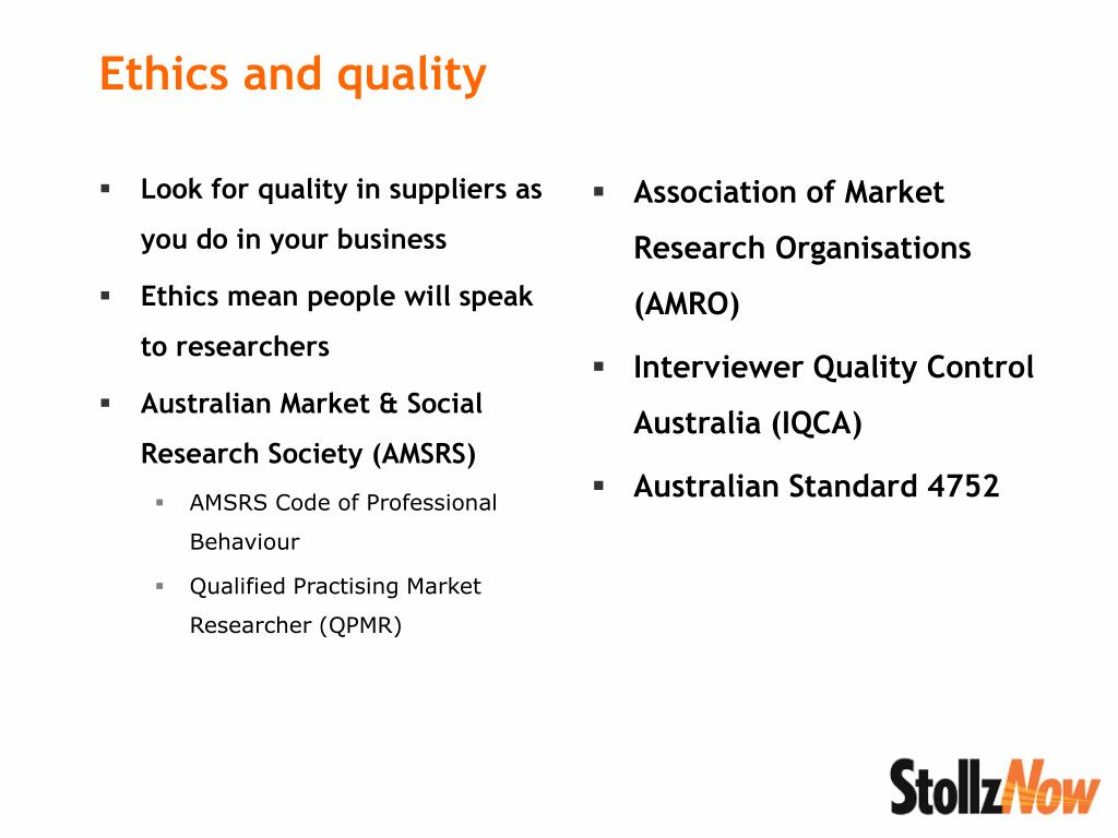 Look for quality in suppliers as you do in your business