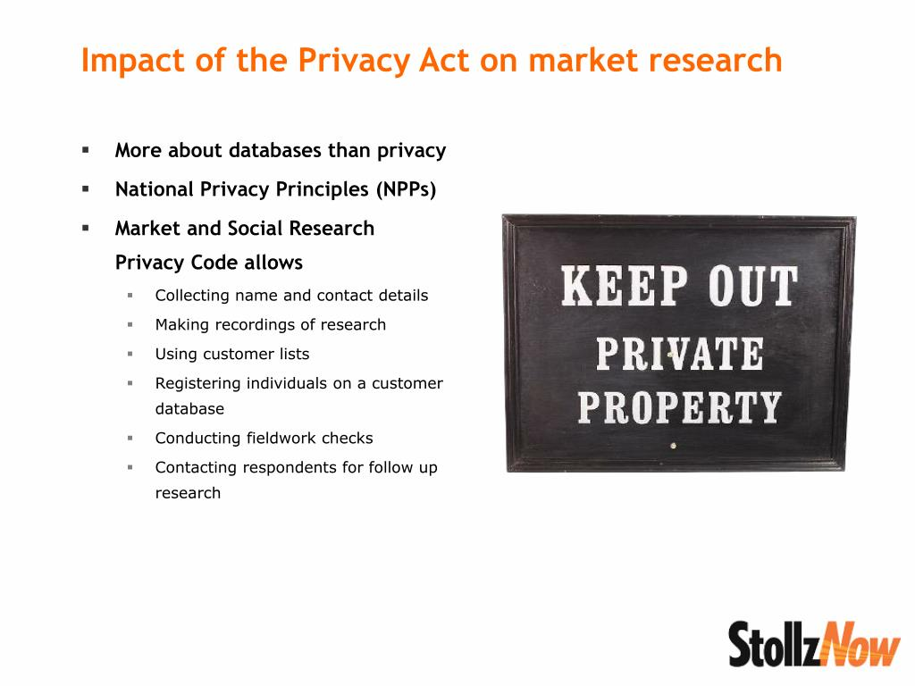More about databases than privacy