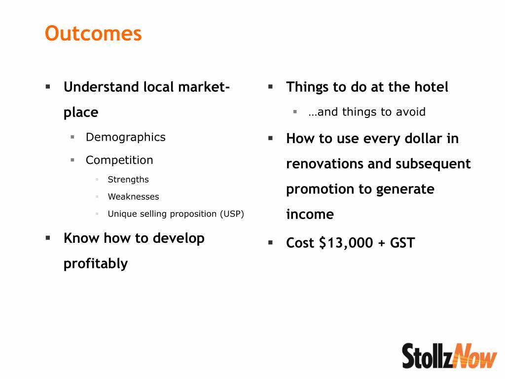 Understand local market-place