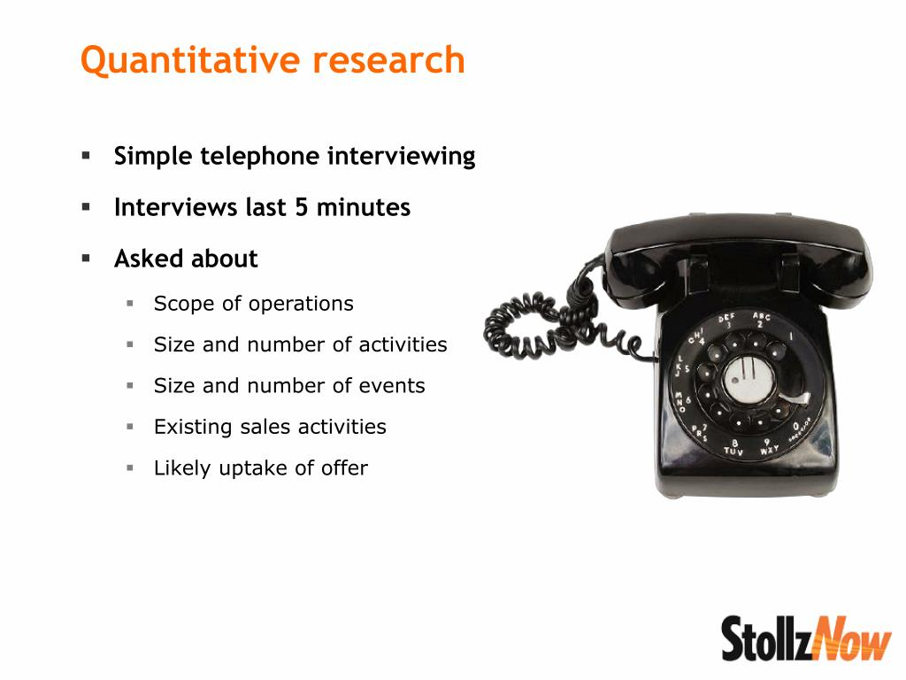 Simple telephone interviewing