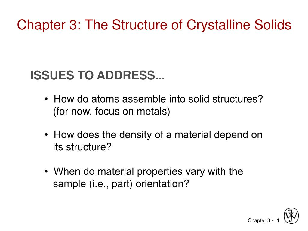 chapter 3 the structure of crystalline solids