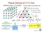 planar density of 111 iron