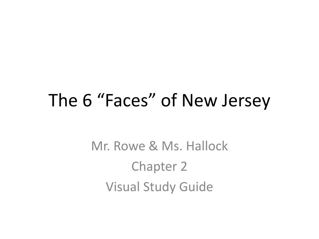 the 6 faces of new jersey l.