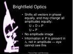 brightfield optics