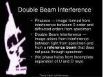 double beam interference