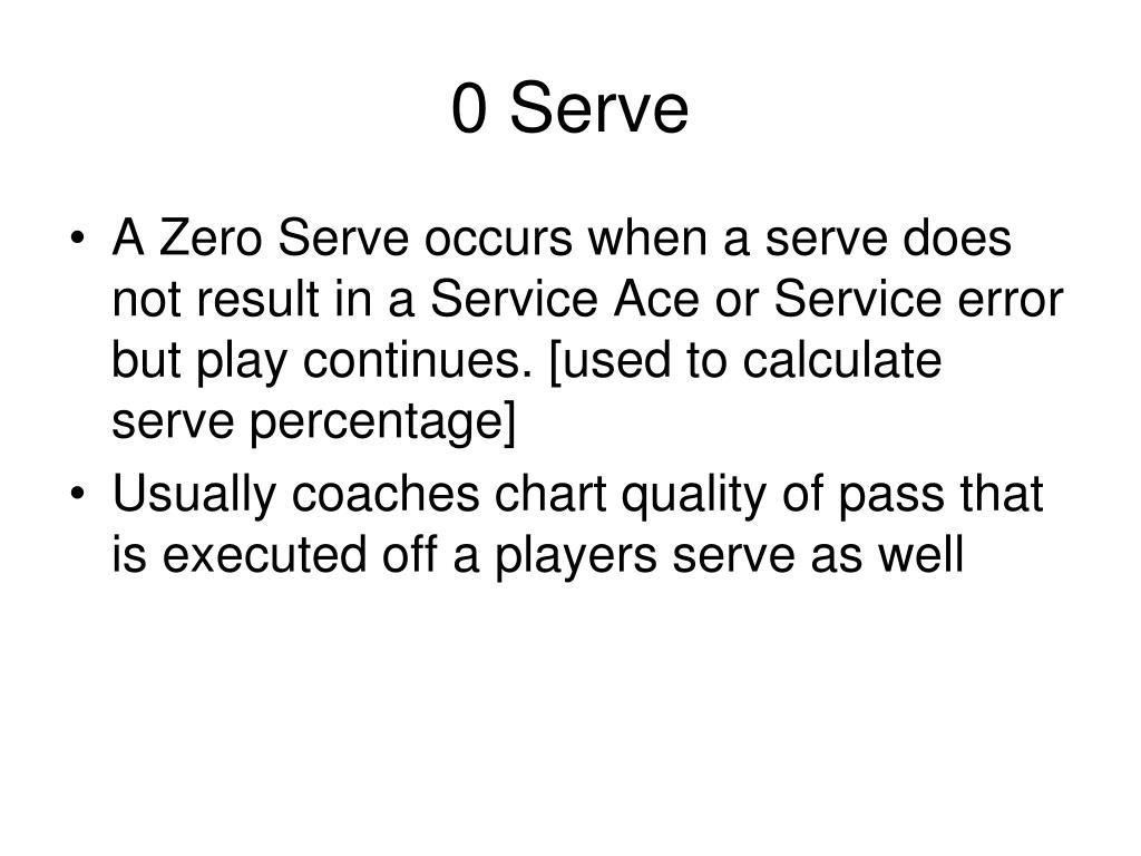 0 Serve