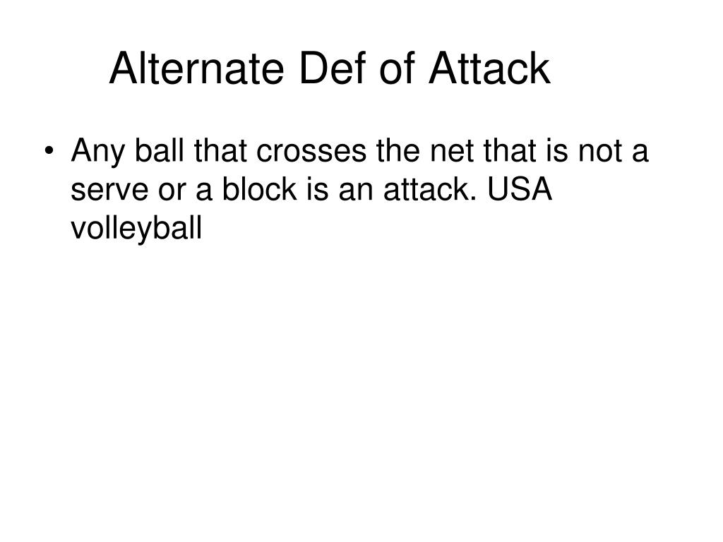 Alternate Def of Attack