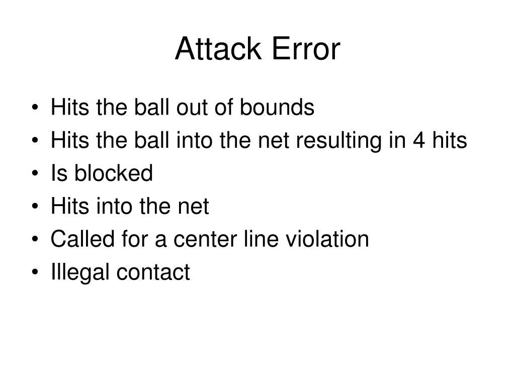 Attack Error