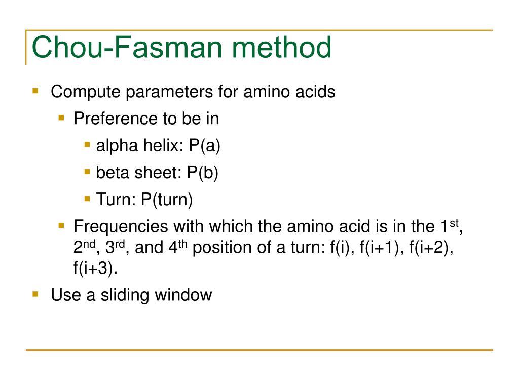 Chou-Fasman method