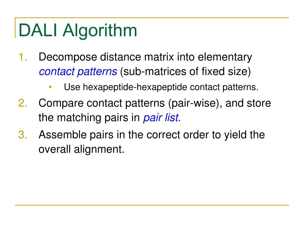DALI Algorithm