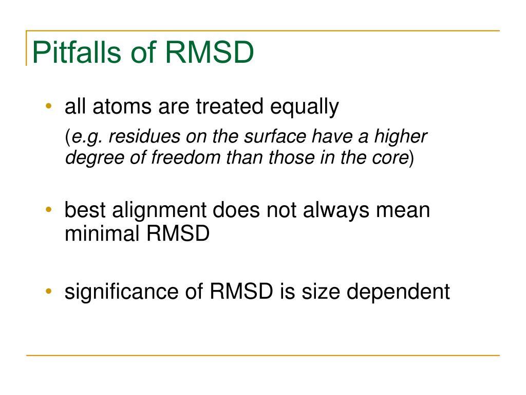 Pitfalls of RMSD