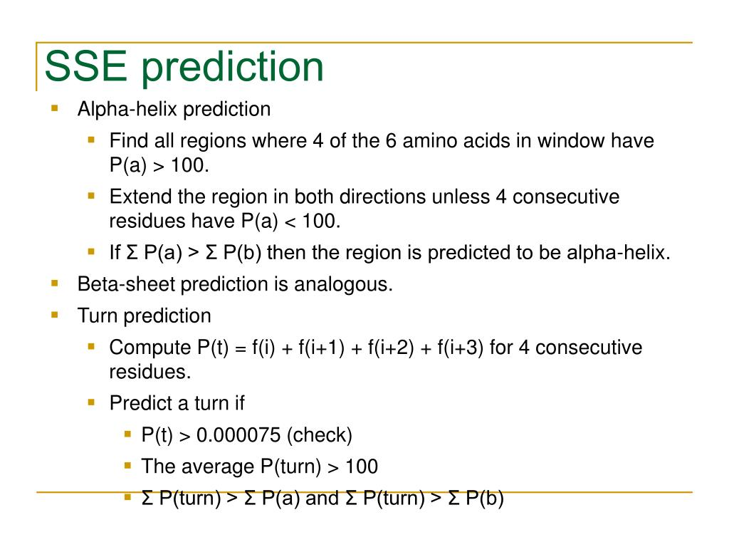 SSE prediction