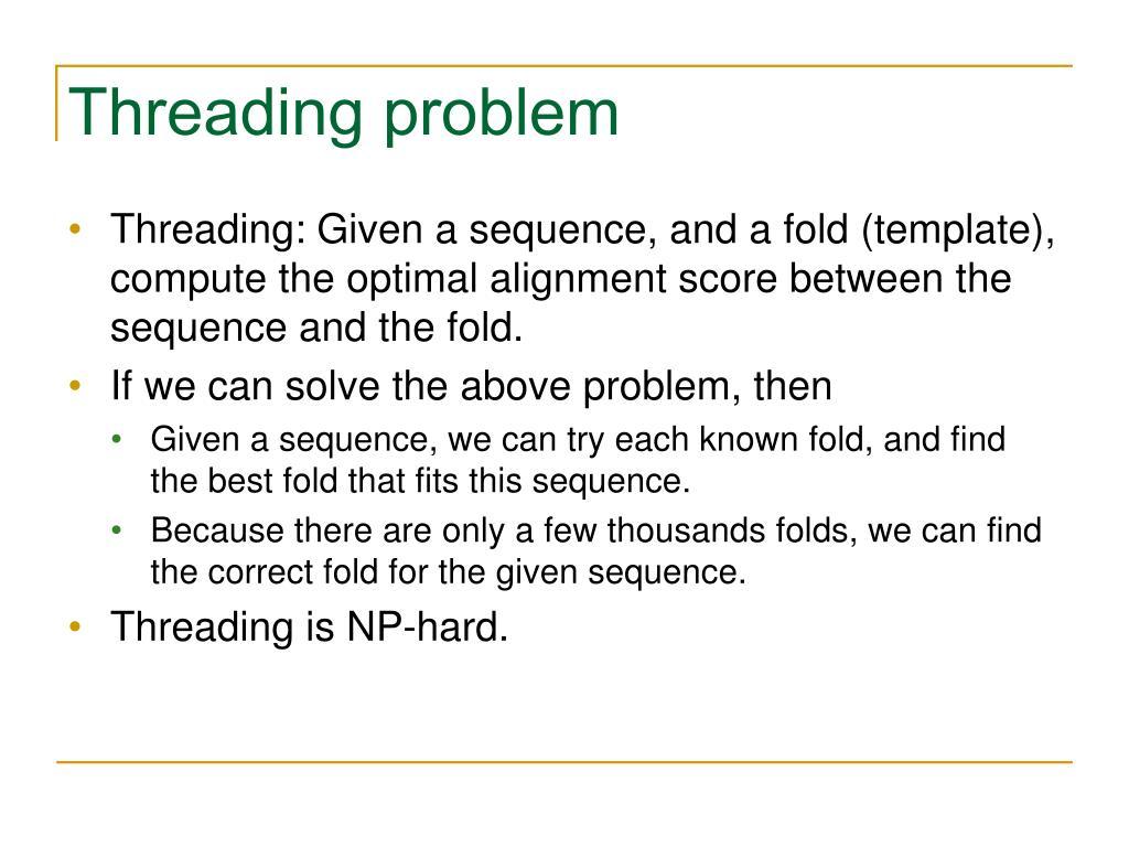 Threading problem