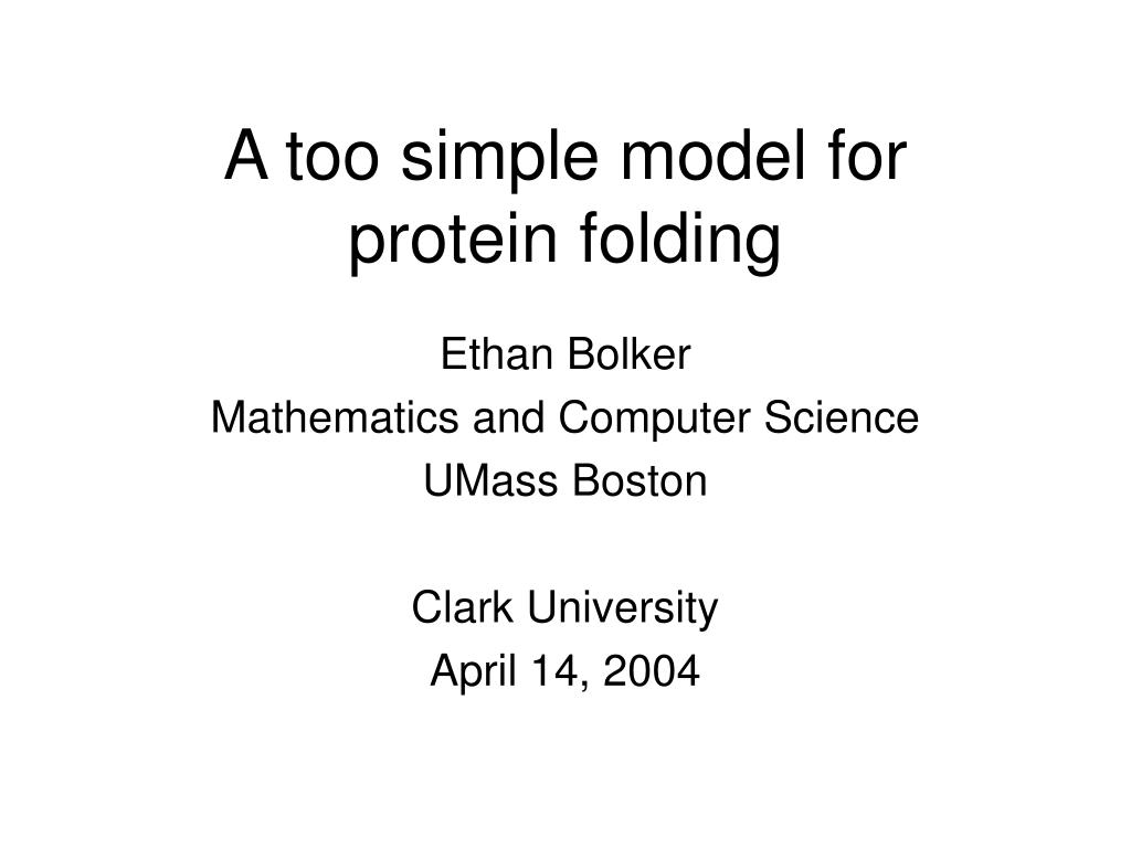 a too simple model for protein folding