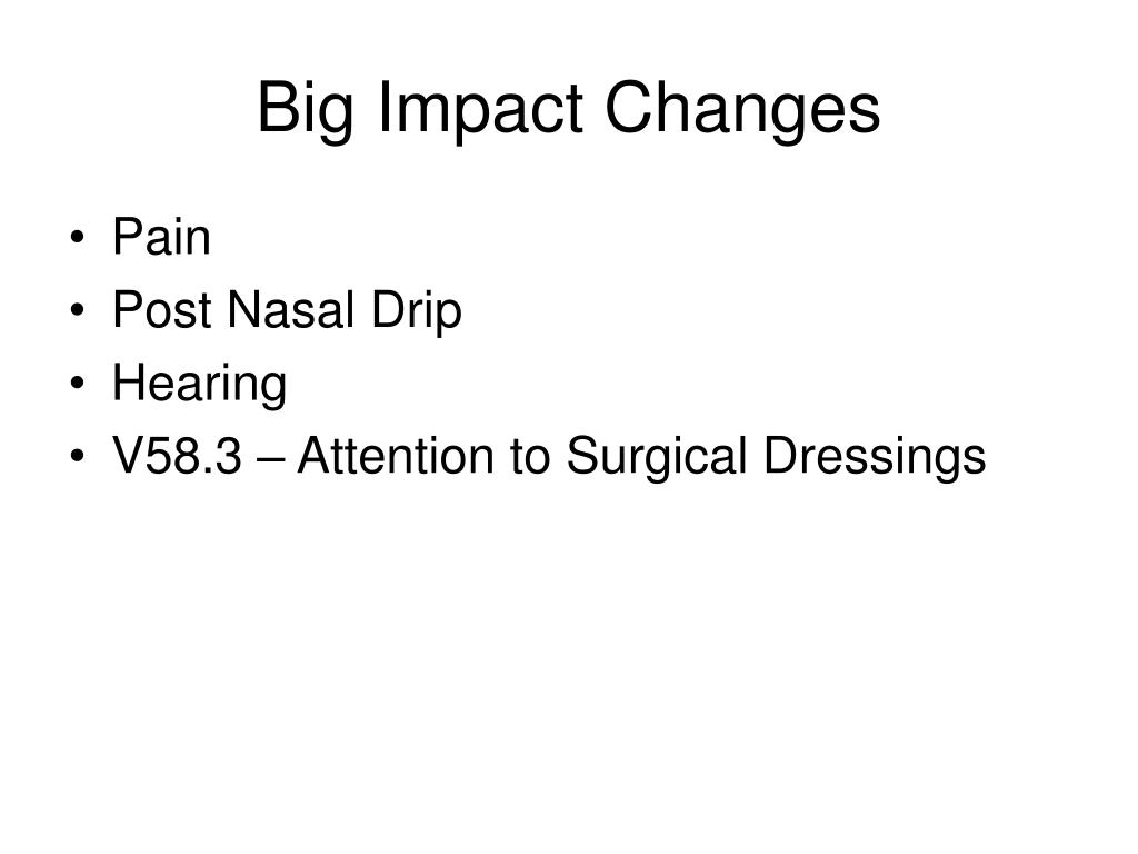 Big Impact Changes