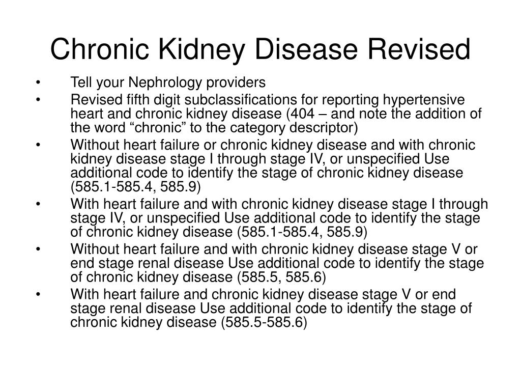 Chronic Kidney Disease Revised