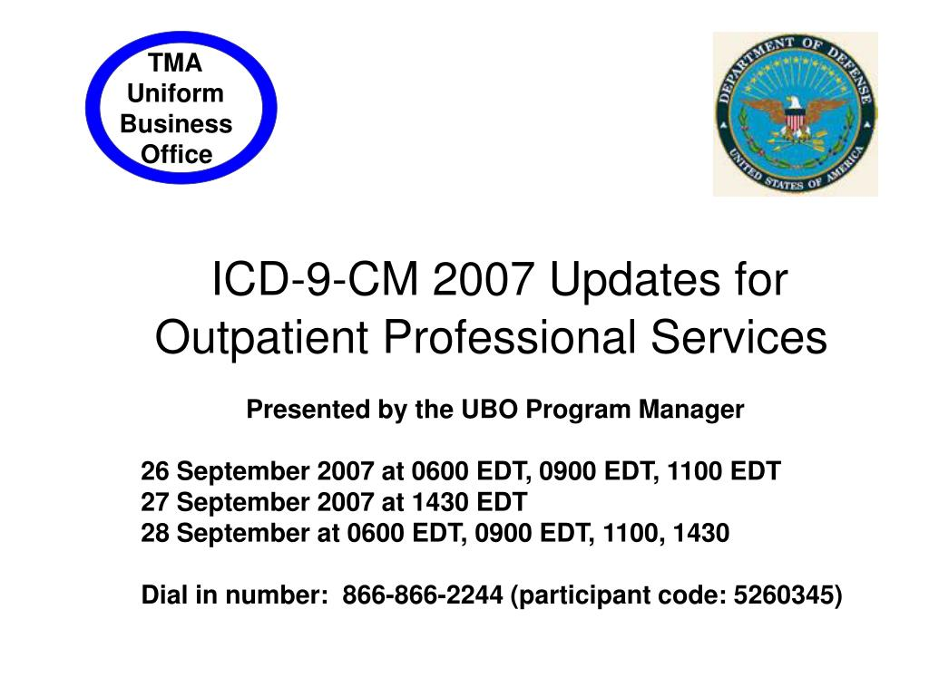 ICD-9-CM 2007 Updates for Outpatient Professional Services