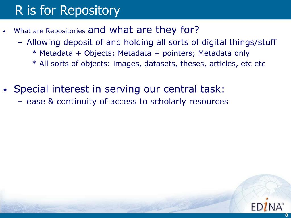 R is for Repository