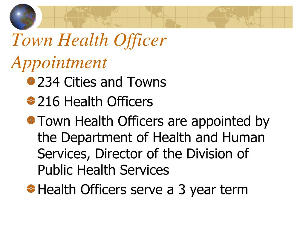 Town Health Officer Appointment
