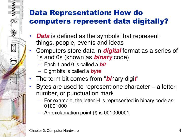 Data representation how do computers represent data digitally
