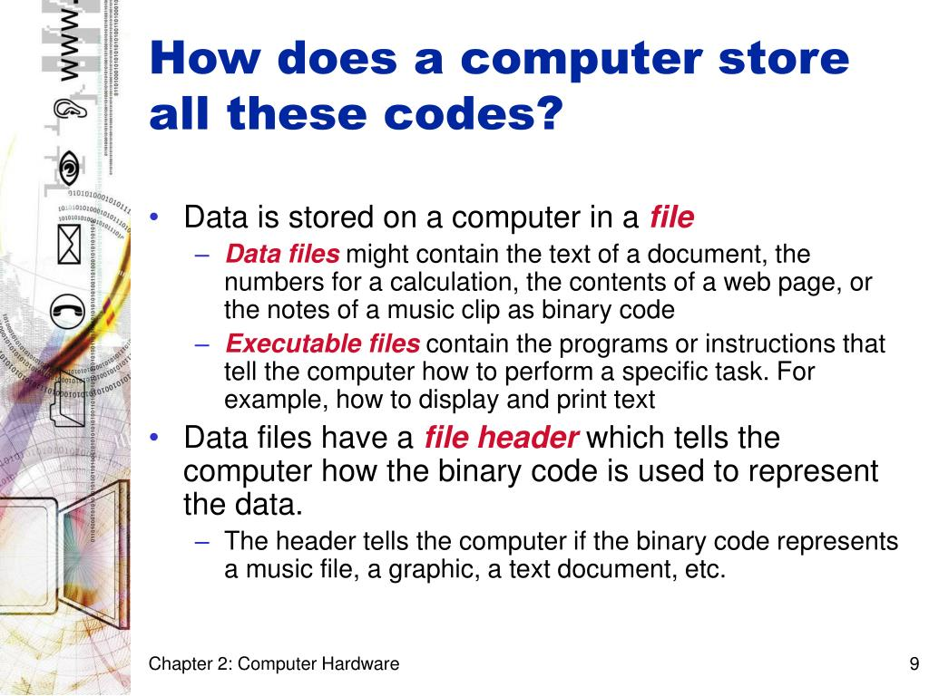 How does a computer store all these codes?
