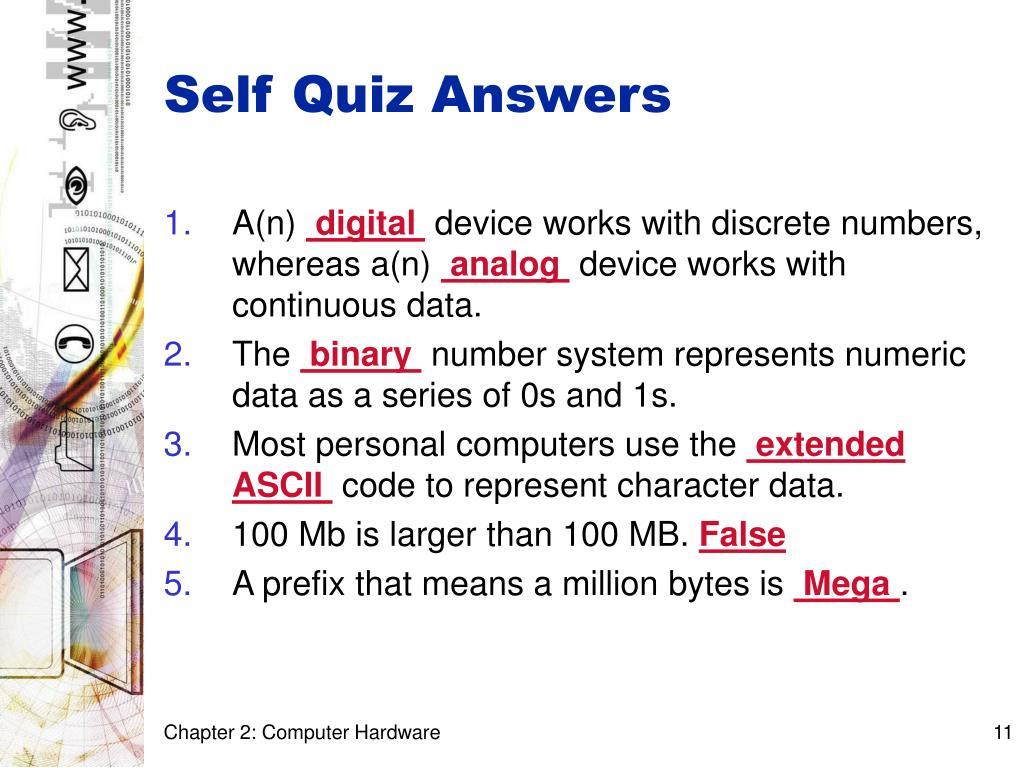 Self Quiz Answers