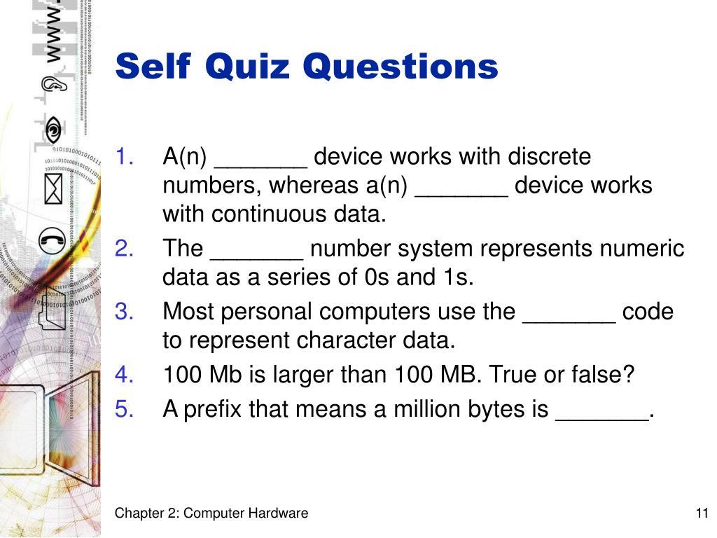 Self Quiz Questions