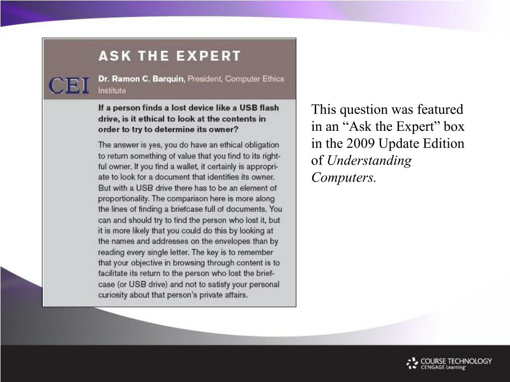 """This question was featured in an """"Ask the Expert"""" box in the 2009 Update Edition of"""