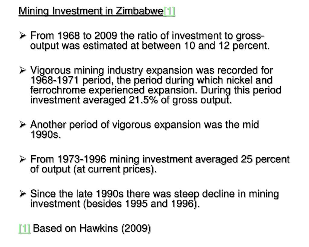 Mining Investment in Zimbabwe