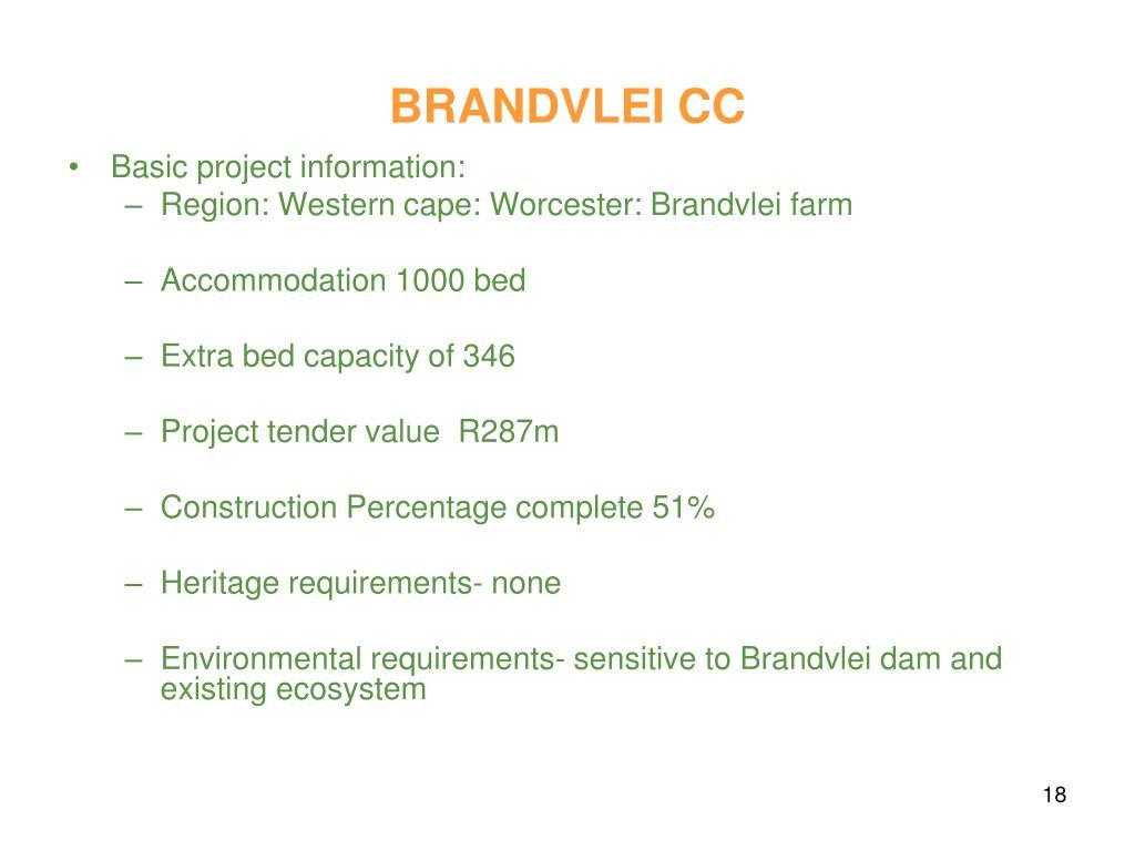 BRANDVLEI CC