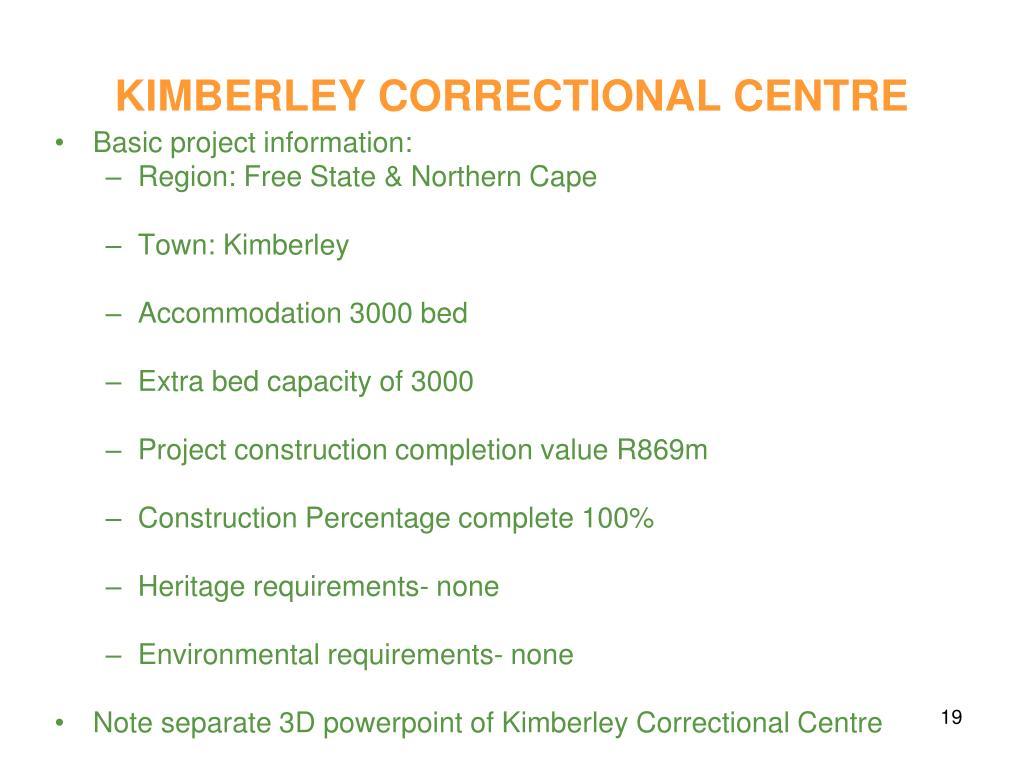 KIMBERLEY CORRECTIONAL CENTRE
