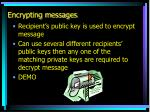 encrypting messages