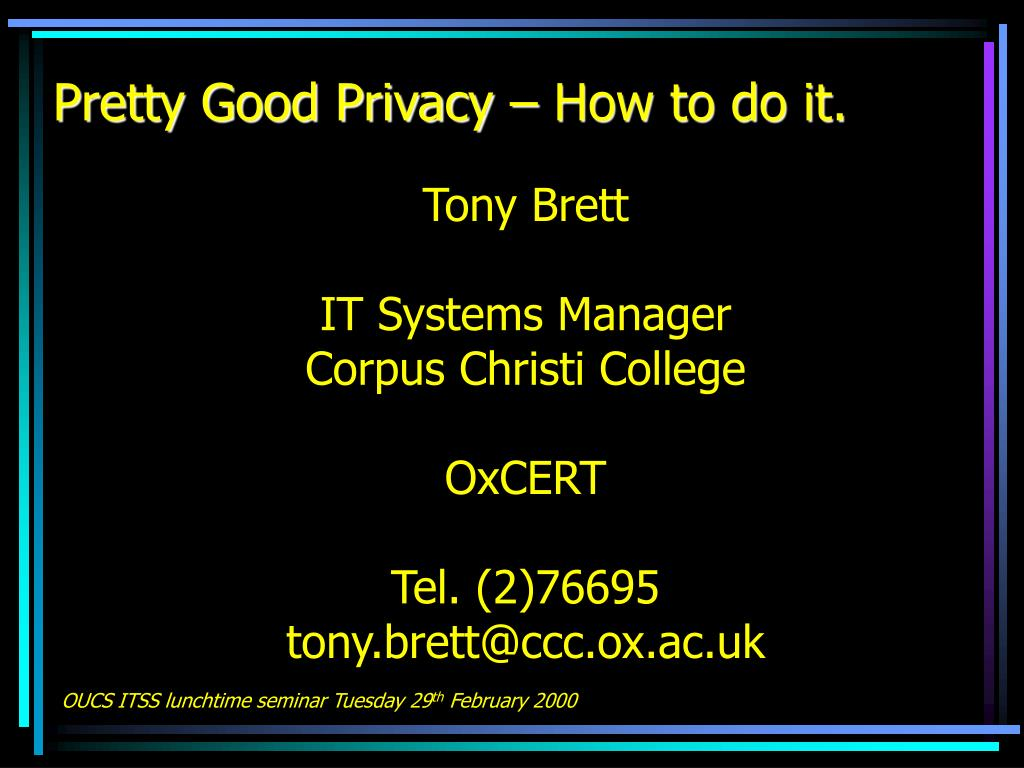 pretty good privacy how to do it l.
