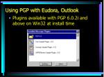 using pgp with eudora outlook