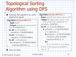 topological sorting algorithm using dfs