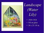 landscape water lily