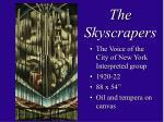 the skyscrapers