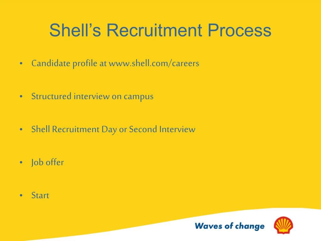 Shell's Recruitment Process