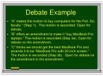 debate example