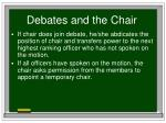 debates and the chair20