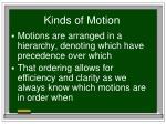 kinds of motion