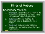 kinds of motions10
