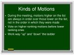 kinds of motions13