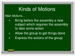 kinds of motions8
