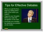 tips for effective debates