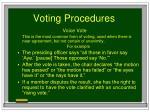voting procedures80