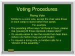 voting procedures81
