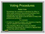 voting procedures83