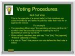 voting procedures84